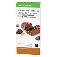 Barritas con proteínas Chocolate y Cacahuete Caja 14 barritas